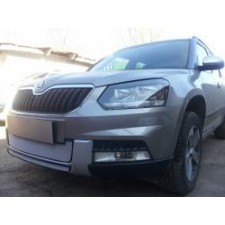 "Защита ""Shelby"" для радиатора (низ) Skoda Yeti Outdoor 2014-2017. Артикул ZR.SKO.YET.OUT.14.bot.c"
