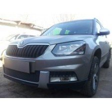 "Защита ""Shelby"" для радиатора (низ) Skoda Yeti Outdoor 2014-2017. Артикул ZR.SKO.YET.OUT.14.bot.b"